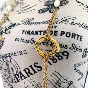 Vintage Golden Statement Necklace