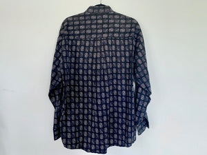 Vintage Long Sleeve Dark Print Button Up