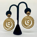 Ornate Vintage Golden Statement Earrings