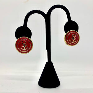 Red & Gold Anchor Studs