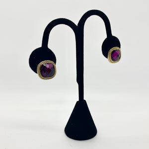 Royal Purple Gem Studs