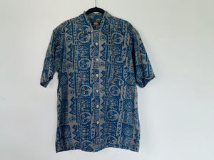 Vintage Tribal Print Short Sleeve Shirt