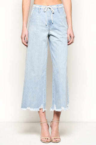 Holland High Rise Wide Leg Trouser with Tie