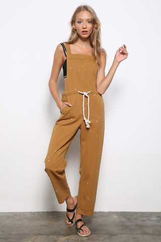Molly Paint Splash Camel Overall