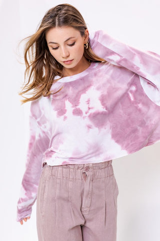 Purple Raine Tie Dye Crop
