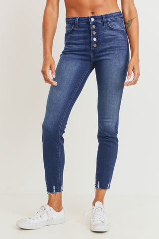 Danielle Button Front Skinny Jeans