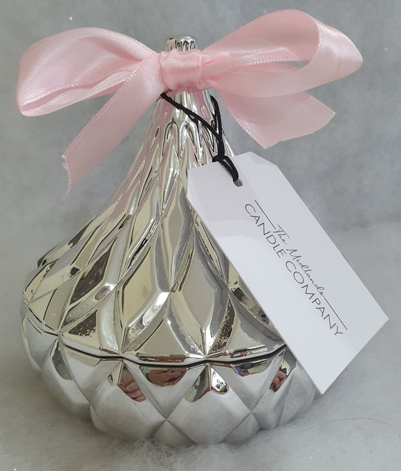 Luxury Silver Hershey Kiss Container & Wax Melts