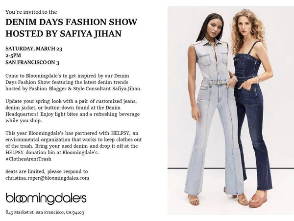 Join Us for the Denim Days Fashion Show on March 23rd!