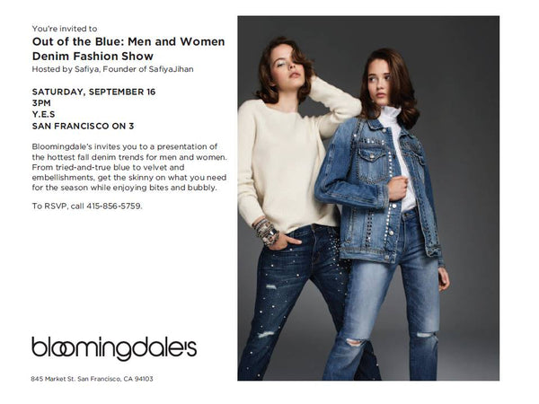 You're Invited to bloomingdales fall denim Fashion show on Saturday, September 16th - 3pm