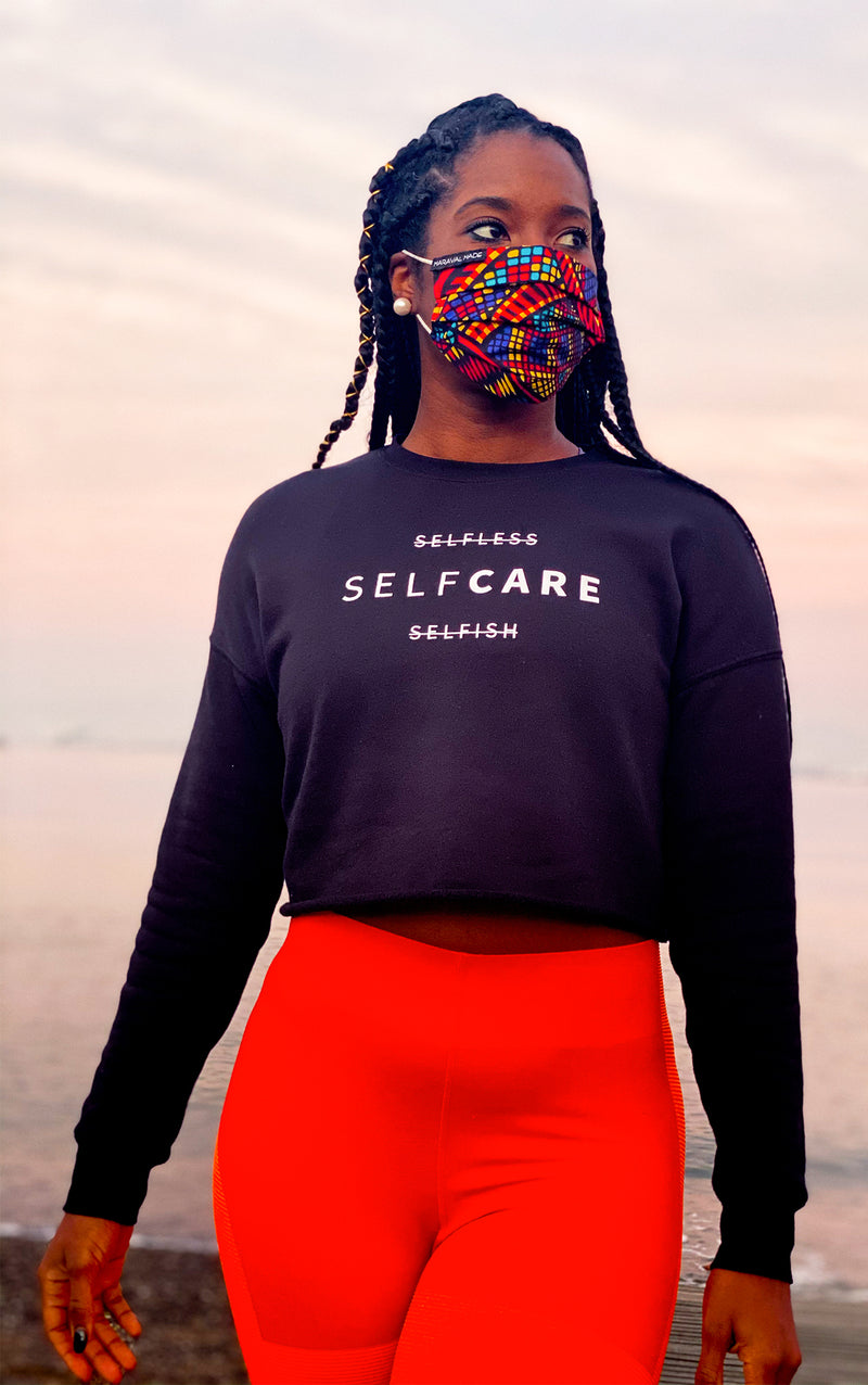 """Self Care"" Cropped Sweatshirt - Safiya Jihan"