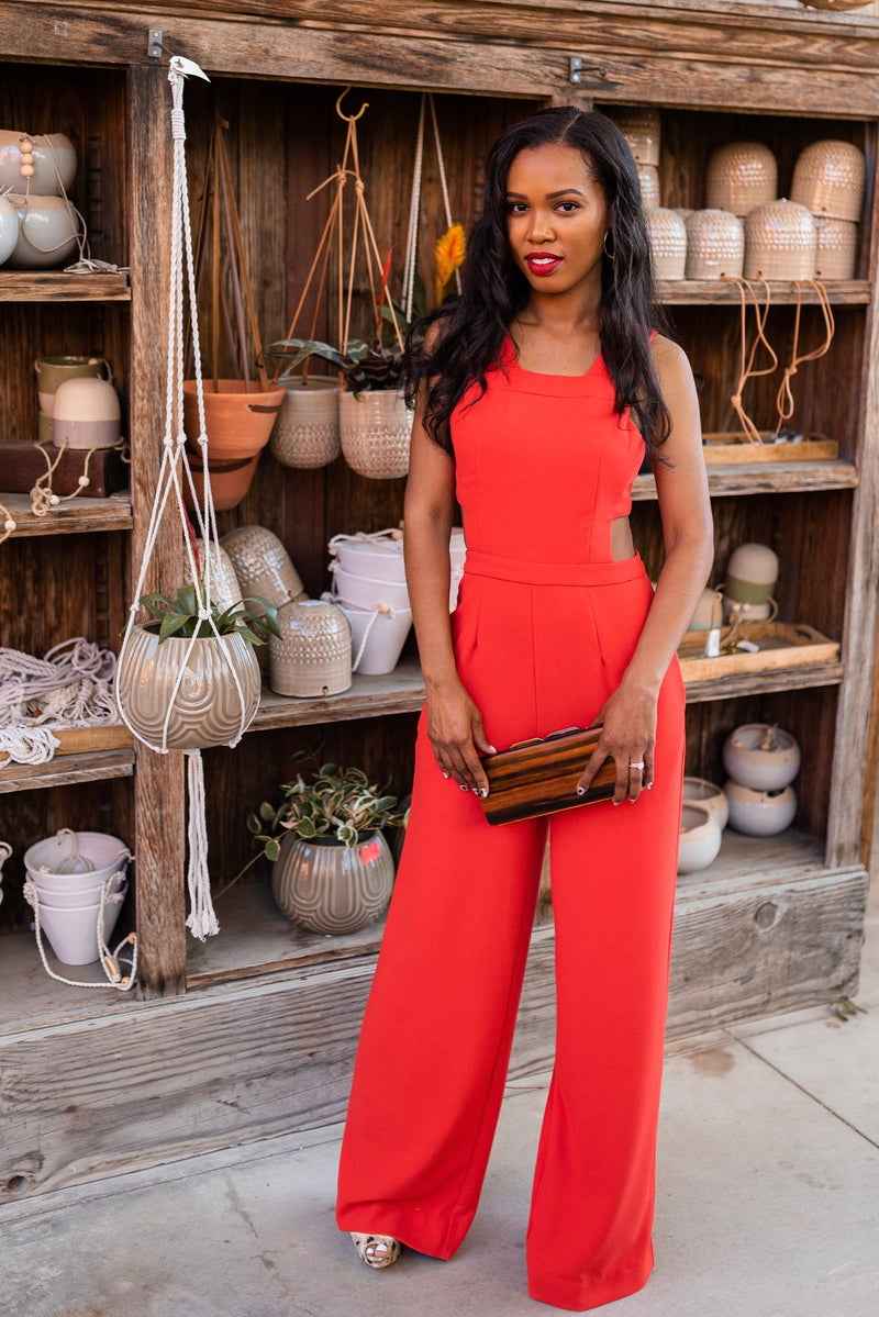 Orange 'Happy' Jumpsuit - Safiya Jihan
