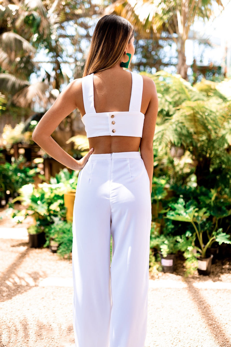 White 'Always & Forever' Jumpsuit - Safiya Jihan