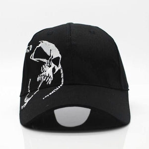 Skull Embroidery Baseball Cap - gkstocks
