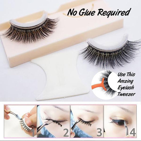 Self-Adhesive Natural Curly Eyelashes - gkstocks