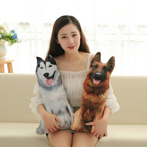 Realistic 3D Dog Cushion Pillow - gkstocks