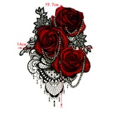 Red Rose Temporary Tattoos - gkstocks