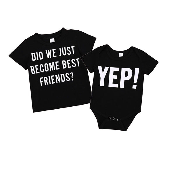 Matching Best Friend Tees Twins - gkstocks