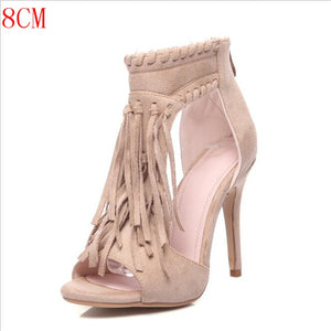 Tassel Retro High Heels - gkstocks