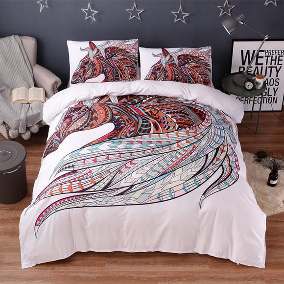Horse Print Bedding Set - gkstocks