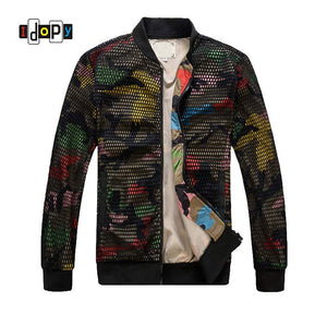 Camo Slim-Fit Baseball Jacket - gkstocks