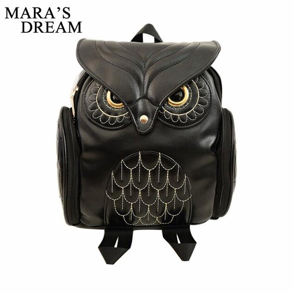 Cool Owl Shape Solid Backpack - gkstocks