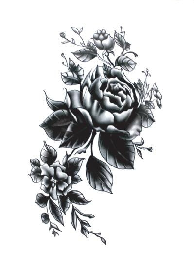 Rose Temporary Tattoo - gkstocks