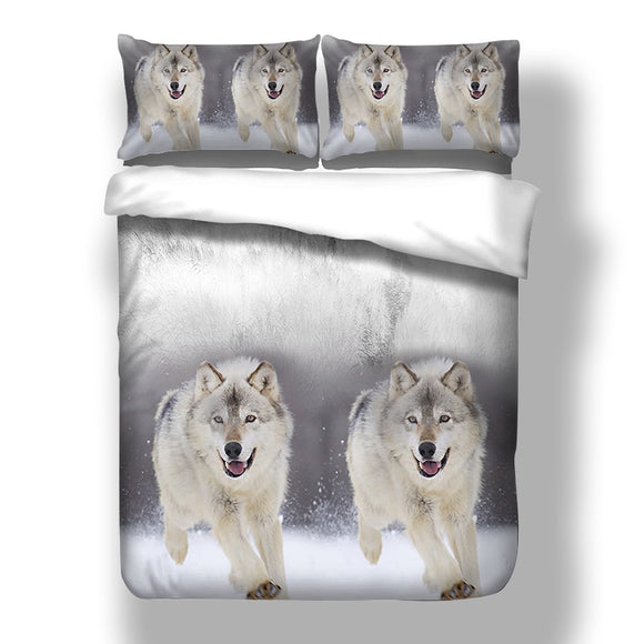 Happy Wolf Bedding Set - gkstocks