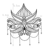 Lotus Flower Temporary Tattoos - gkstocks
