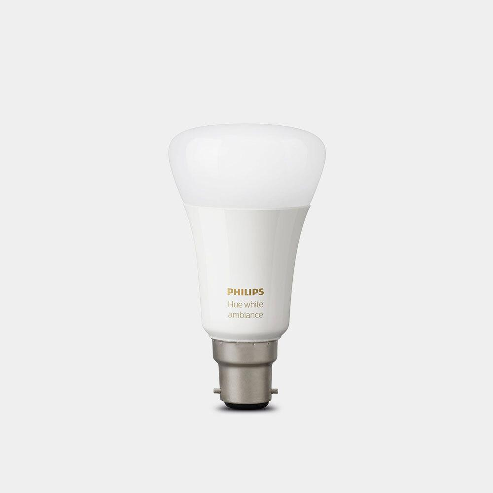 £10 off the Philips Hue White Ambiance B22 Single Bulb