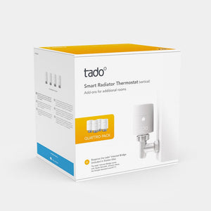 Tado Smart Radiator Thermostat (Vertical Quattro Pack)