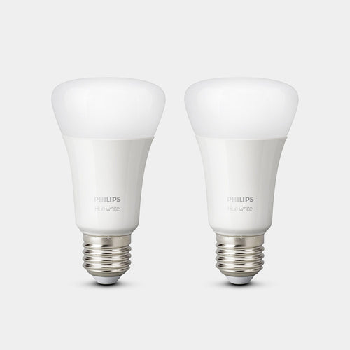 Philips Hue White Bulbs E27/B22 (Twin Pack)