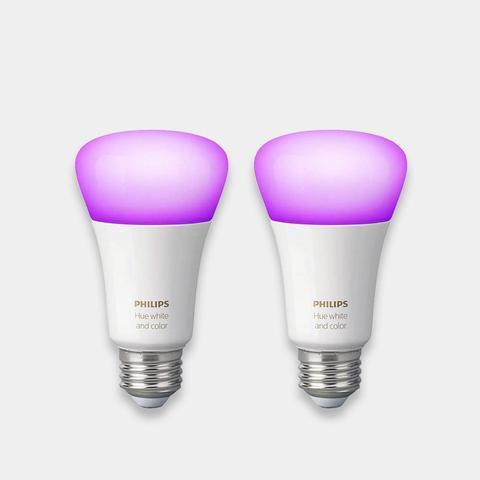 Philips Hue Colour Changing Bulbs E27/B22 (Twin Pack)
