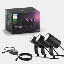 Philips Hue White and Colour Ambiance Lily Spotlight 3 pack and base unit