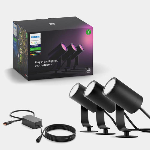 Philips Hue White and Colour Ambiance Lily Spotlight (3 pack)