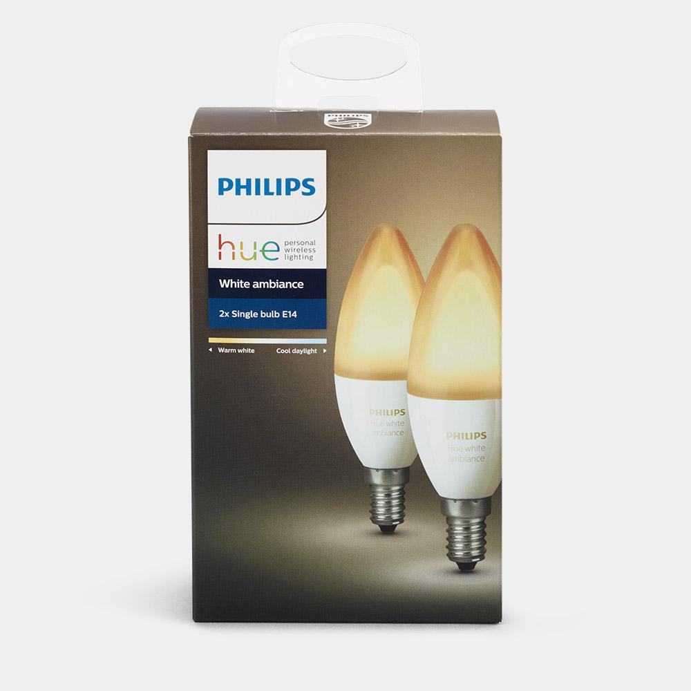 philips hue white ambiance e14 twin pack edf energy. Black Bedroom Furniture Sets. Home Design Ideas