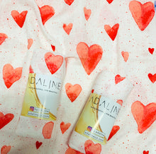 Swaddle Blanket - Red Hearts