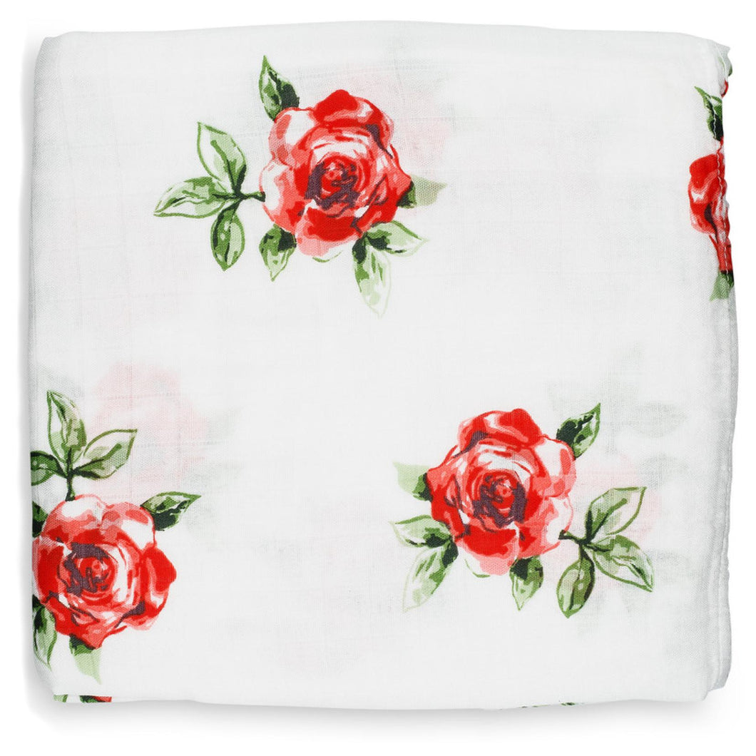 Swaddle Blanket - Red Rose
