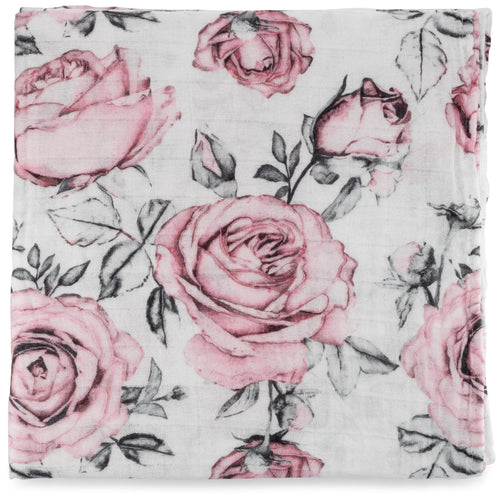 Swaddle Blanket - Pink Rose