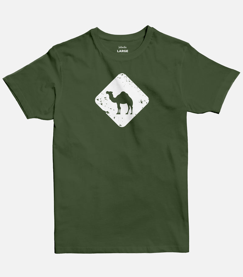 Jobedu Camel Crossing Men's T-shirt