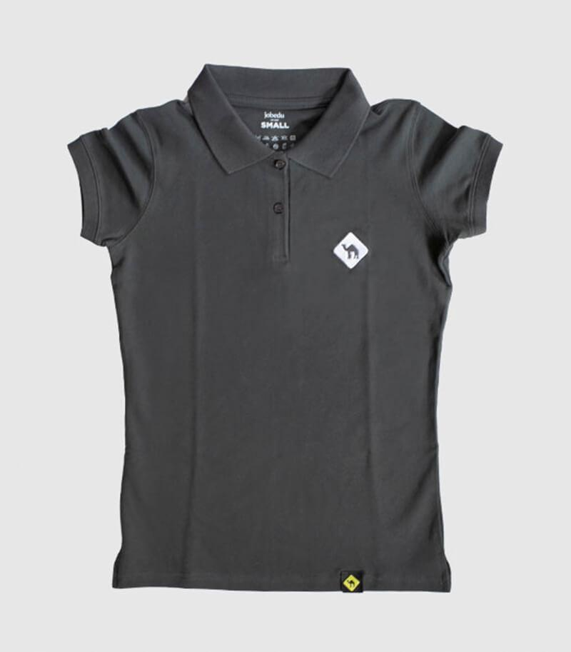 Jobedu Camel Crossing Women's Polo Shirt Charcoal
