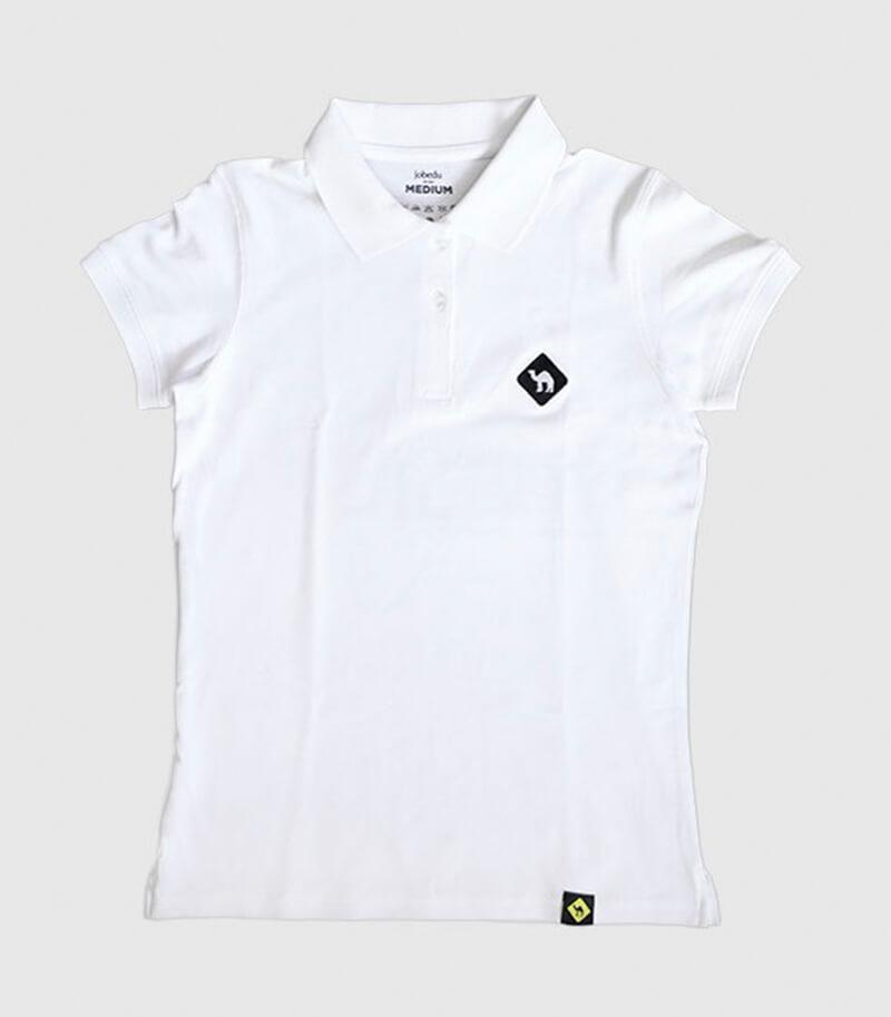Jobedu Camel Crossing Women's Polo Shirt White