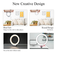 6 inch Photography Ring lamp LED Selfie Ring Light YouTube Video Live 3200-5500k Camera Light With Phone Holder USB Plug Tripod