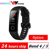 Original Huawe Honor Band 4 band 5 Smart Bracelet 50m Waterproof Color ouch screen Heart Rate Sleep Snap Smart Wristband