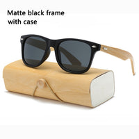 17 color Wood Sunglasses bamboo sunglasses with case square Women for women men Mirror Sun Glasses retro de sol masculino