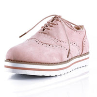 Plus Size 35-43 Women Flat Hollow Platform Shoes Oxfords British Style Ladies Creepers Brogue Shoe For Female Lace Up Footwear