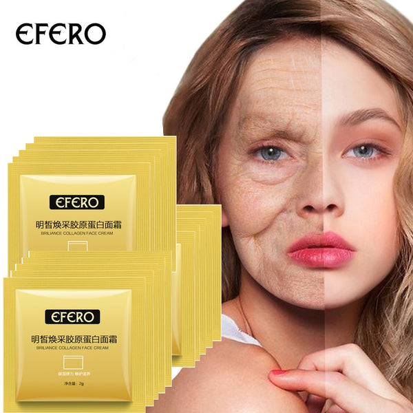 10packs Collogen Moisturizing Face Cream Skin Care Whitening Cream Lifting Firming Anti Wrinkle Serum for Face Cream Essence