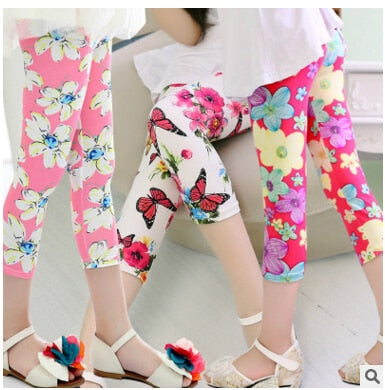 2019 Hot & New Girls leggings summer multi-colored elastic milk silk breathable pant girls Leggings