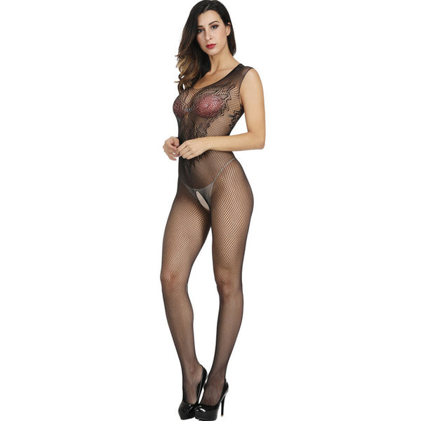 MUSHIERYA Porn Women Transparent Bodystocking Sexy Lingerie For Sex Catsuit Elastic Open Crotch Fishnet Body Stockings Sleepwear