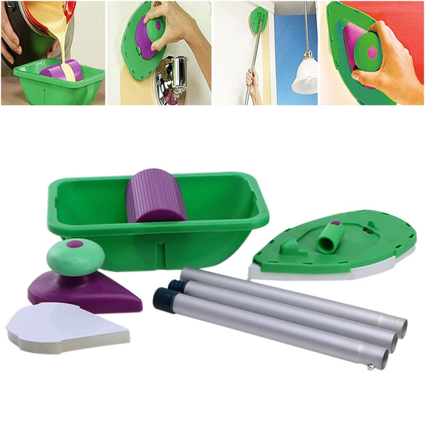 9pcs sponge Point And Paint Roller and Tray Set Household Painting Brush Decorative Tool Home Painting Brush Wall Decor Tool