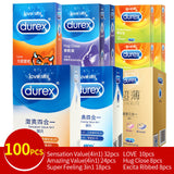 Durex Condoms Set Magibox Sensation Amazing Value Penis Cock Sleeve Natural Latex with Extra Lubricated